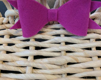 Purple felt bow