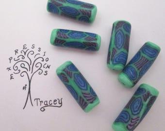 Green Blue beads