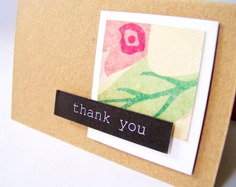 Customer Thank You Note Ackknowledgement Cards, Set of 10 Mini Note Thank You cards, Customer Order Thank You Cards