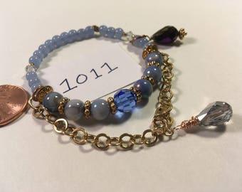 Sky Blue Elastic Bracelet