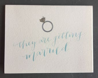 They Are Getting Married (Greeting Card)