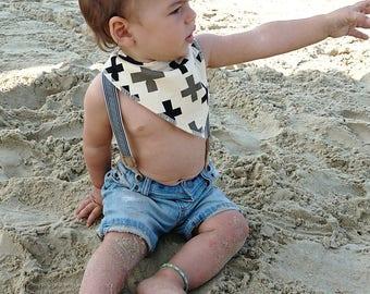 Baby Bandana Bib - Baby Bib - Organic Cotton Bib - Boys Bib - Girls Bib -  Dribble Bib - Drool Bib – Baby Bibs - Baby Gift - Baby Shower