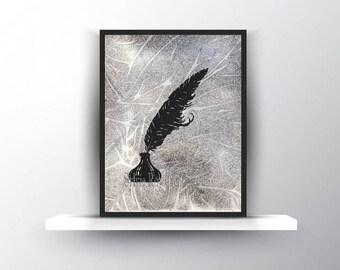 digital download, print, pen, ink, wall art, download, watercolor, illustration, instant, silhouette
