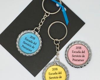2018 Escuela del Servicio de Precursor key chain llavero