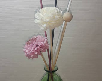 Pretty Soap Flowers Aromatic Diffuser 4 Bars and 2 Flowers