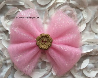 Shabby Chic Tulle Bow