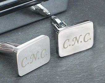 Personalised Initial Cufflinks - Engraved, Cufflinks, Personalized Cufflinks, Gifts for Men, Cuff Links, Wedding, Anniversary, Personalised