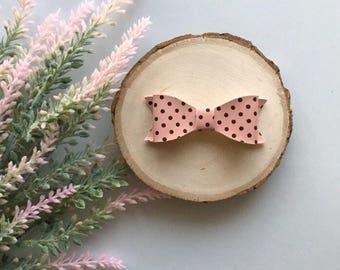 Polka Dot Bo, Pink Bow, Patent Pink Bow