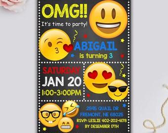 Emoji Invitations, Emoji Birthday Invitation, Emoji Birthday, Emoji Invitation, Emoji Party, Emoji Birthday Party, Emoji Printable, Emoji