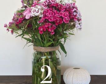 Wedding Table Numbers, Wedding decor, stick on Numbers, Cottage Garden Wedding, Wedding signs, Wedding table decorations, Table Numbers