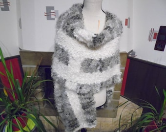 Women knitted poncho handmade to order one size