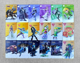 Zelda Amiibo Cards All 18 Cards Singles The Legend of Zelda Breath of the Wild