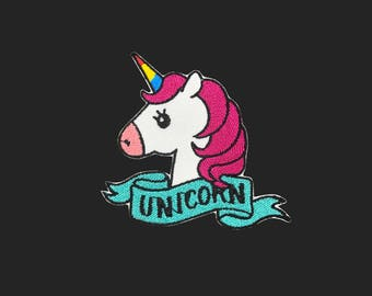 unicorn patch embroidered patch iron on patch bag patch hat patch gift