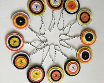 Circle Halloween Ornaments
