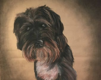 Custom Charcoal Dog Portraits