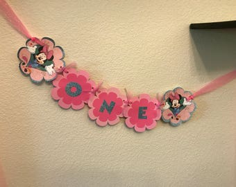 Minnie Mouse High Chair Banner