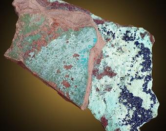 Cornetite; Kolwezi, Katanga, Congo  --- minerals and crystals