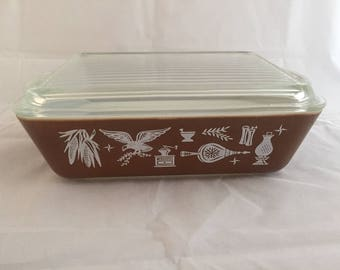 Pyrex 1.5 ounce Brown Casserole
