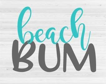 Beach Bum - SVG Cut File