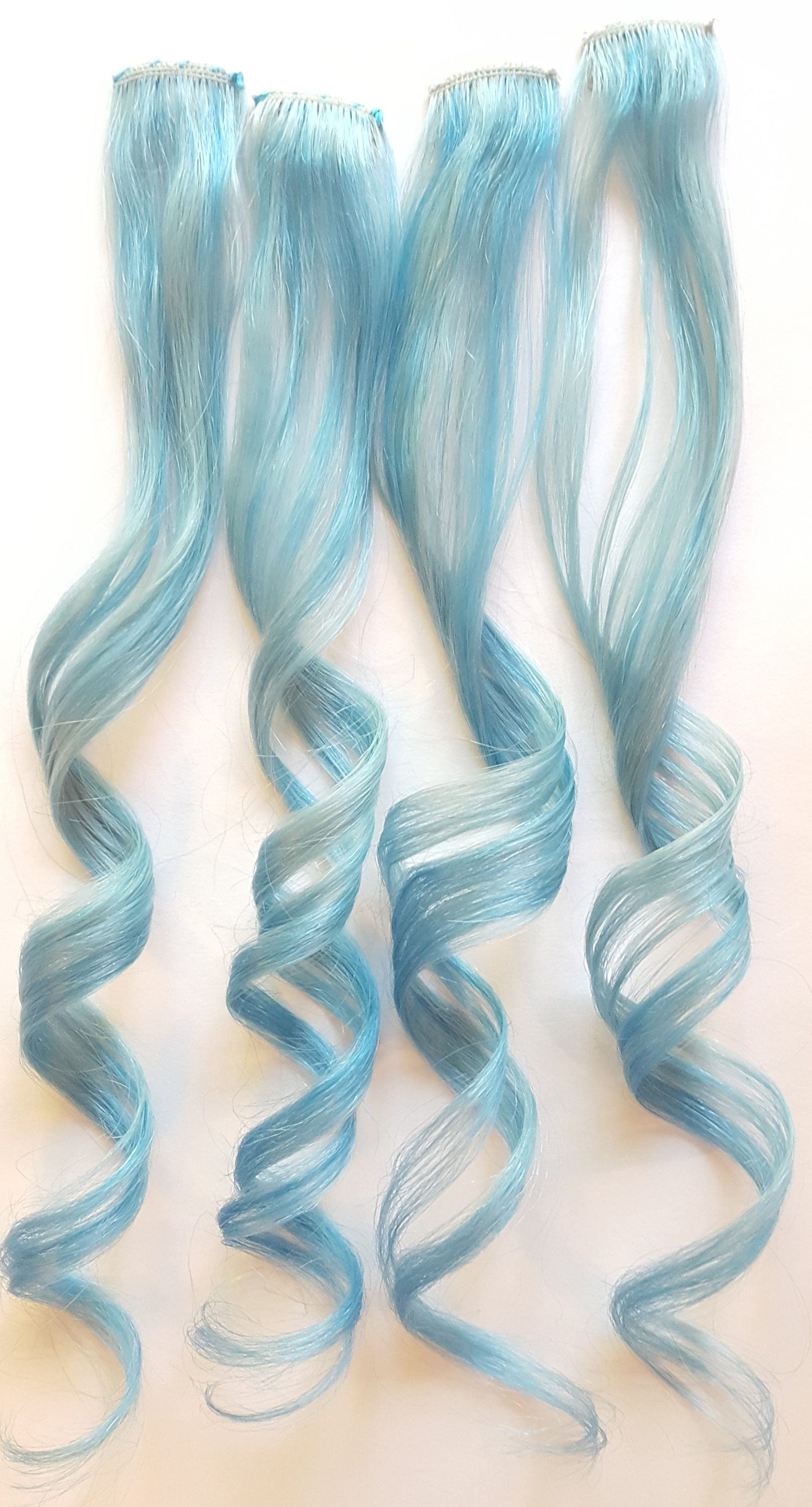 Baby Sky Blue Clip In Hair Extensions Mermaid Hair Unicorn Hair