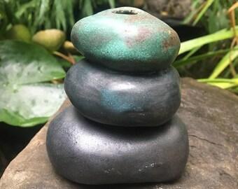 stoneware cairn-vase