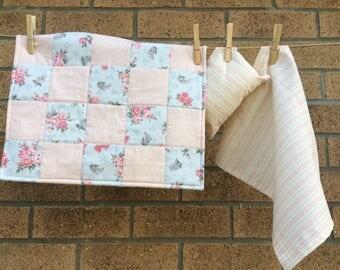 Doll quilt , pillow and sheet set