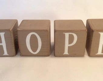Wooden Word Blocks - Hope