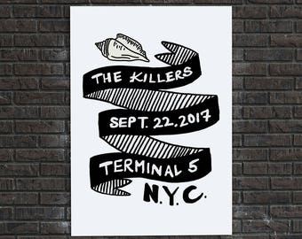 "5""x7"" The Killers 'Wonderful Wonderful' Tour Small Print"