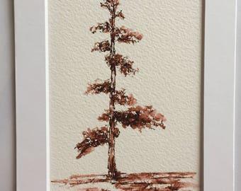 tree in brown