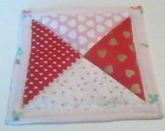 Set of 4 Pink and Red Hourglass Coasters