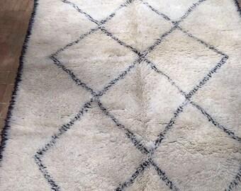 Genuine beni ourain Moroccan rug