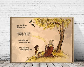 Avatar The Last Airbender, Iroh, Uncle Iroh, Iroh And Son, Iroh Song, Little Soldier Boy, Manga, Anime, Manga Art, Nursery Decor, Kids Gift