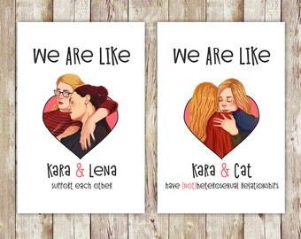 Supergirl, Supercorp, Supercat, Comics, CW, valentines day, valentines, valentines day card, valentines card, greeting cards