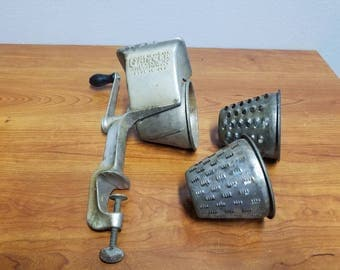 Vintage Griscer Meat Grinder With Attachments