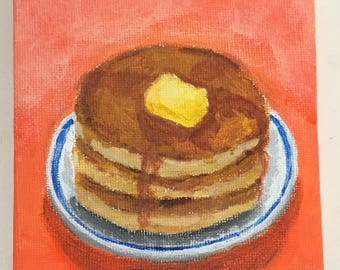 Stack of Pancakes Painting