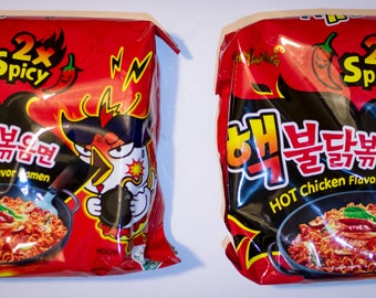 2 Pack Samyang 2X Spicy Hot Chicken Korean Ramen Nuclear Fire Noodle Challenge