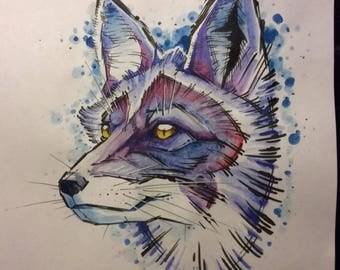 Care about animals. Graphical art. Watercolour paintings