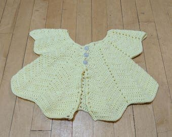 Yellow Chevron Baby Cardigan, 18-24 Months