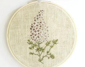 Lilac Blossom / Floral / Botanical Hoop Art