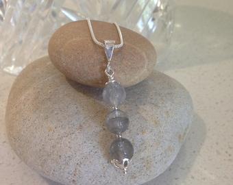 Grey Agate Pendant