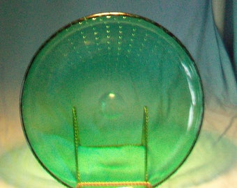 Erickson Large Round Controlled Bubble Green Dish