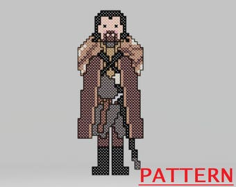 Game of Thrones Nutcracker Cross Stitch Pattern - Jon Snow / Game of Thrones Christmas Counted Cross Stitch / PATTERN ONLY