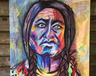 Colorful Indian Portrait (Sitting Bull)