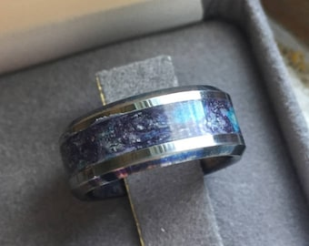 mixed glowstone inlay tungsten ring