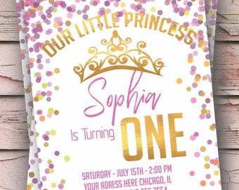 Our Little Princess 1st Birthday Invitation