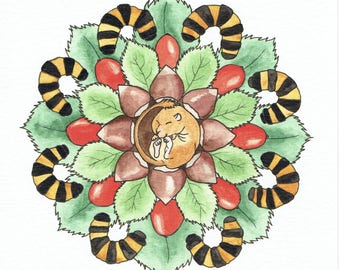 Dormouse Mandala