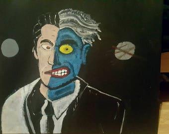 Two Face Portrait Painting