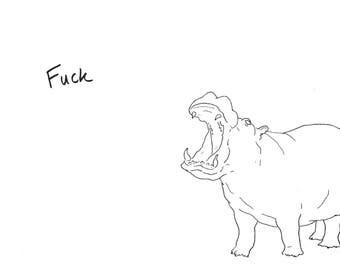 Swearing Hippo