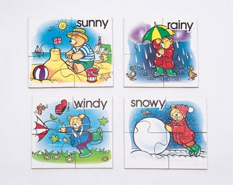 Wooden Weather and Seasons Jigsaw Puzzle