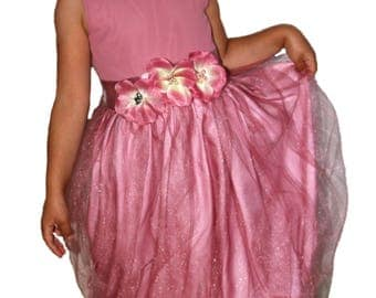 Festive girl dress party holiday birthday wedding 5-6 years old size 5-6